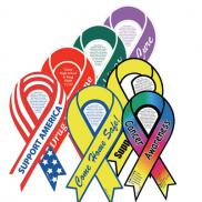 promotional ribbon car magnet with custom imprint