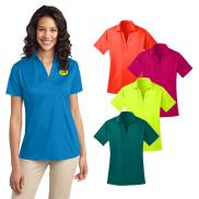 promotional port authority® ladies silk touch™ performance polo