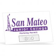 promotional a1 parking permit sticker