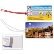 promotional slip-in pocket luggage tag - 4 color process