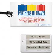 promotional write-on surface luggage tag