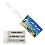 promotional standard write-on surface luggagetag