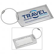 promotional prestige metal luggage tag