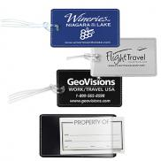 promotional leatherette luggage tag