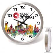 promotional 14 brushed metal wall clock
