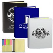 promotional full size sticky note and flag book