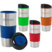 promotional 18 oz. color grip tumbler