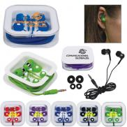 promotional earbuds with square case