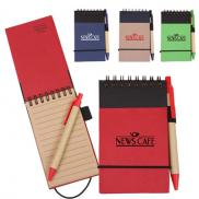 promotional eco recycled jotter with pen