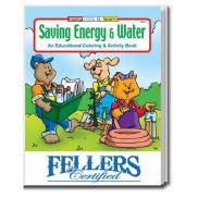 promotional saving energy & water coloring book