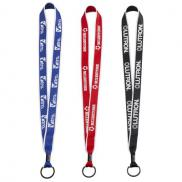 promotional 3/4 two-tone polyester lanyard