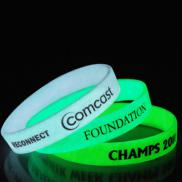 promotional glow in the dark wristband 1/2