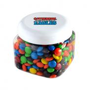 promotional canister of plain m&ms