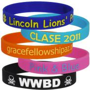 promotional printed wristbands 1/2