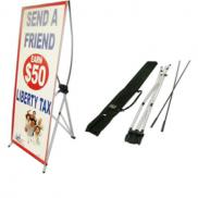 promotional x-banner stand with customized banner