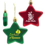 promotional shatter resistant flat star ornament