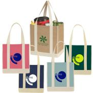 promotional non-woven two-tone shopper tote