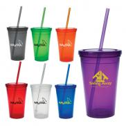 promotional 16 oz. economy double wall tumbler