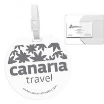 21895 - Recycled Jumbo Round Luggage Tag