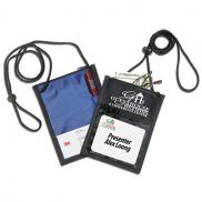 promotional polyester 5 function badge holder