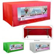 promotional 3-sided open corner 6 ft table covers