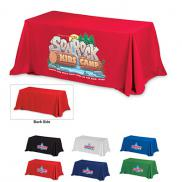promotional 4-sided throw style economy 8 ft table covers