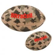 promotional camouflage football stress reliever