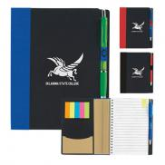 promotional 5 x 7 eco notebook with flags