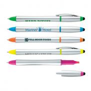 promotional stylus highlighter pen combo