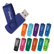 promotional rotate 2tone flash drive 1gb