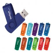 promotional rotate 2tone flash drive 2gb