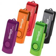 promotional rotate 2tone flash drive 8gb