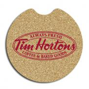 promotional 2 5/8 notched cork car coaster