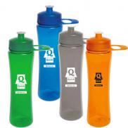 promotional 24 oz. polysure exertion bottle with grip
