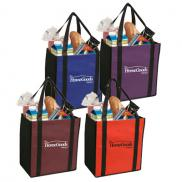 promotional non-woven two-tone grocery tote