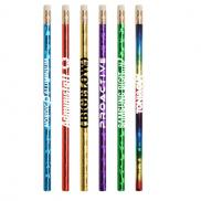 promotional jobee prismatic foil wrap pencil