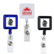 promotional 30 cord square retractable badge reel