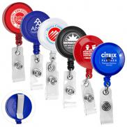 promotional 30 cord round retractable badge reel