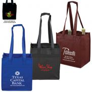 promotional 6 bottle wine tote