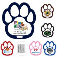 promotional paw shaped luggage tag