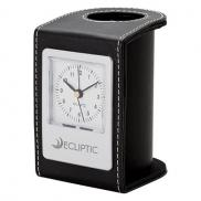 promotional alba desk clock & pen cup