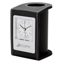 22689 - Alba Desk Clock & Pen Cup