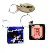 promotional custom wine charms - 2 sq. in.