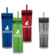 promotional 16 oz tube tumbler gift set