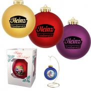 promotional 3.25 round shatterproof ornament
