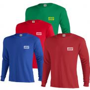 promotional 5.2 oz. pro weight long sleeve tee (colors)