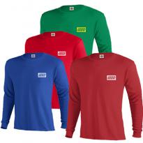 23180 - 5.2 oz. Pro Weight Long Sleeve Tee (colors)