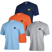 promotional adult short sleeve pocket tee 6 oz. (colors)