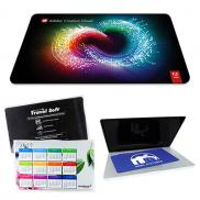 promotional microfiber mouse pad & cleaning cloth