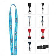promotional 1/2 fine print lanyard - full-color